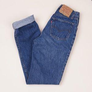 Vintage '80s mom jeans dark wash high waist